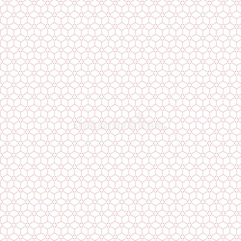 Abstract Simple Square Line Stars Pattern Fabric Background stock illustration