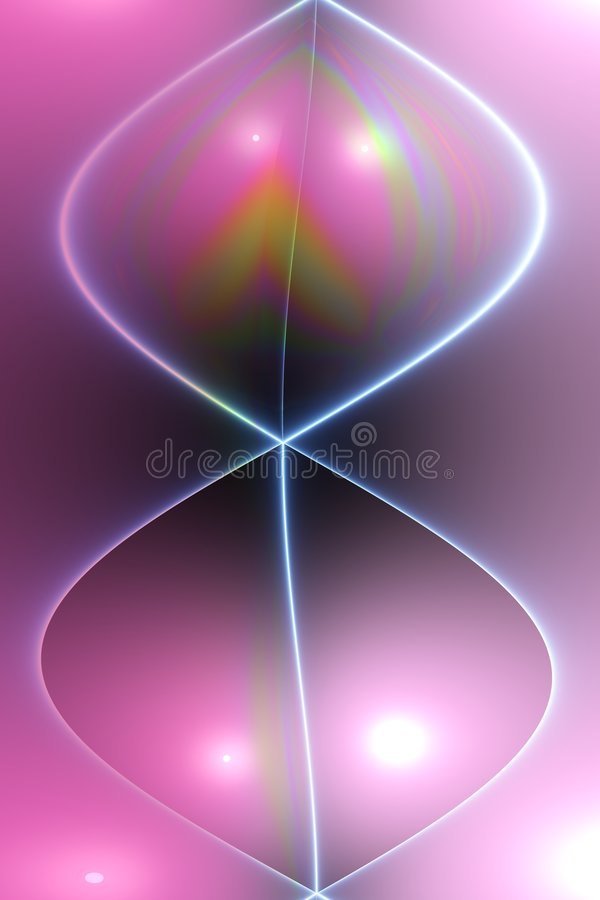 Abstract sinewave in pink stock illustration