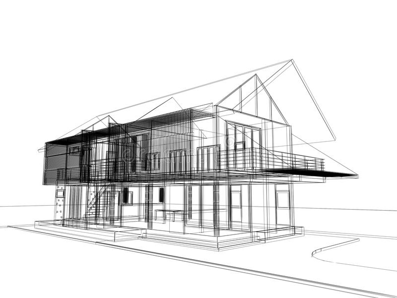 Abstract Sketch Design Of Exterior House Stock Illustration Image 60215510