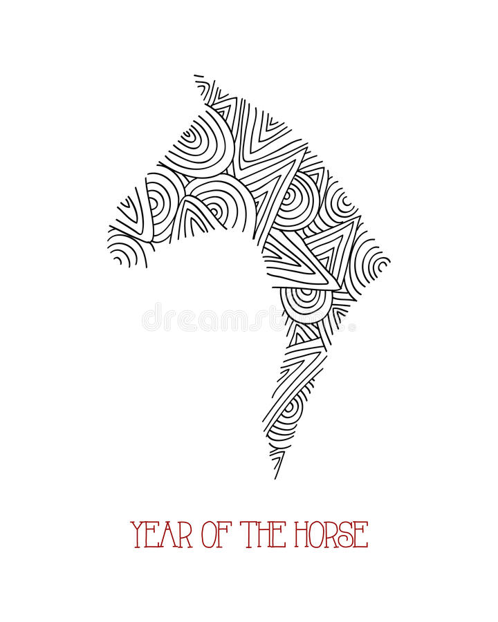 Download Abstract Sketch Illustration: Chinese New Year Of Stock Vector - Image: 34655942