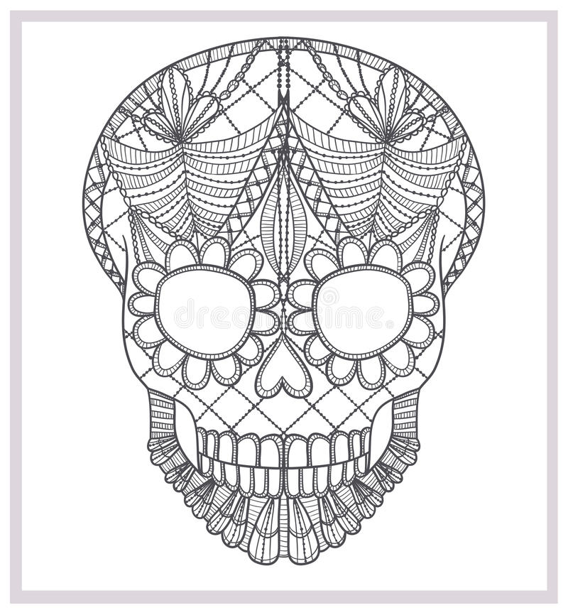 Download Abstract Skull Lace Ornament. Royalty Free Stock Images - Image: 26860569