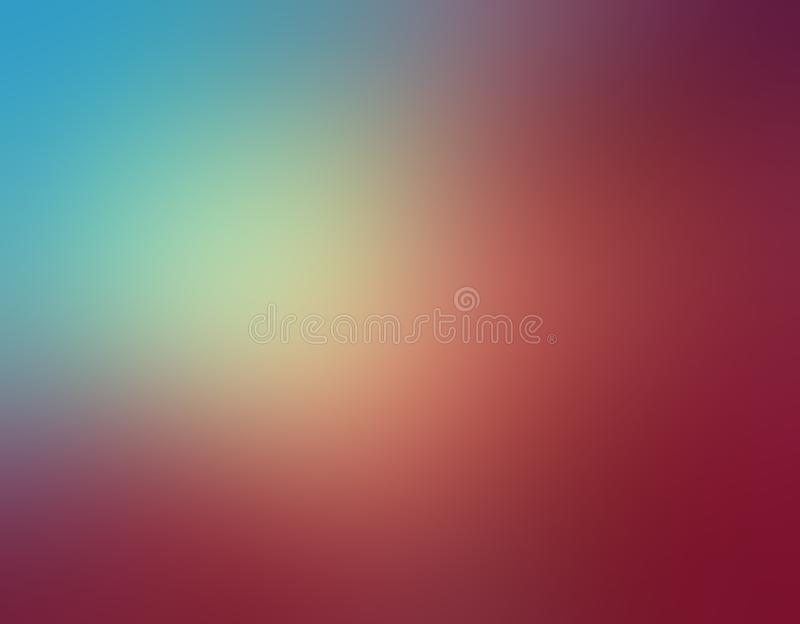 Abstract sky blue and rose pink blurred background colors in soft blended design with yellow sunshine spotlight royalty free illustration