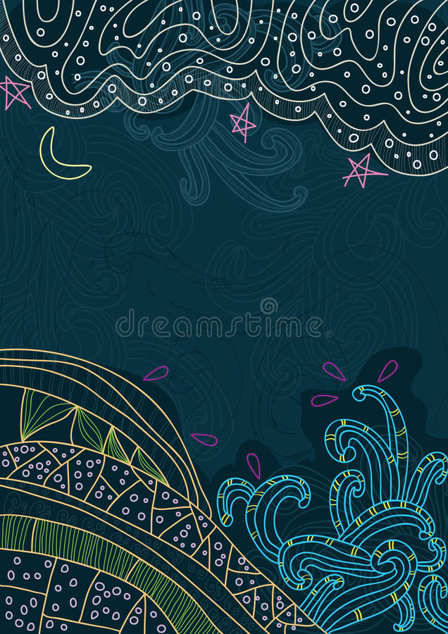 Abstract Sky And Land_eps vector illustration