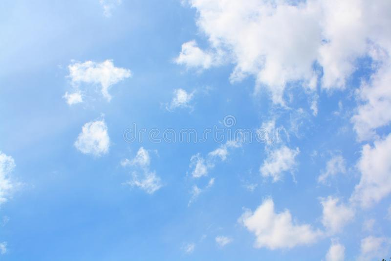 Abstract and sky and white clouds. For natural backgrounds and wallpapers stock image