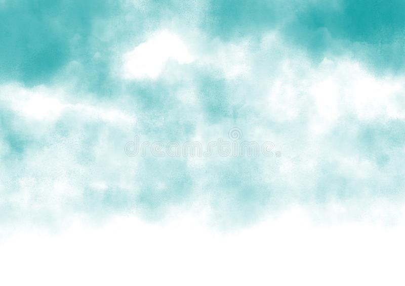 Abstract sky with white clouds vector illustration