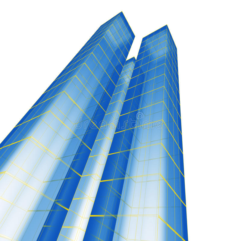 Abstract skyscraper royalty free illustration