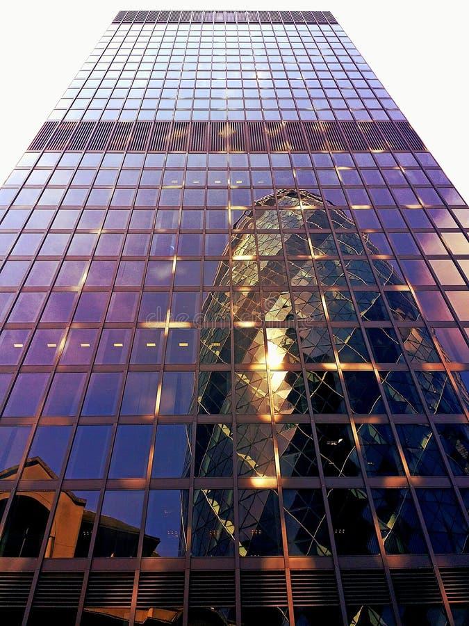 Abstract skyscraper mirror london royalty free stock photo
