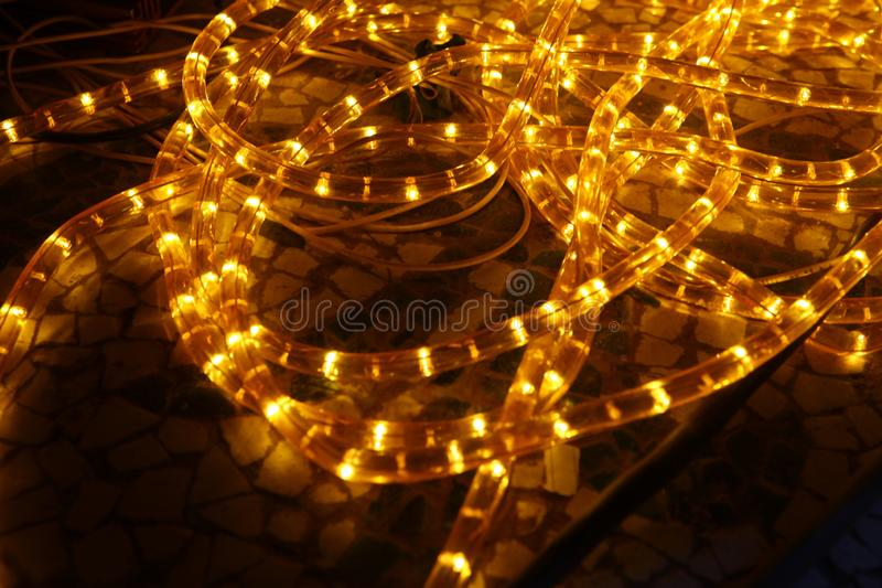 Abstract slow shutter lights closeup royalty free stock photo