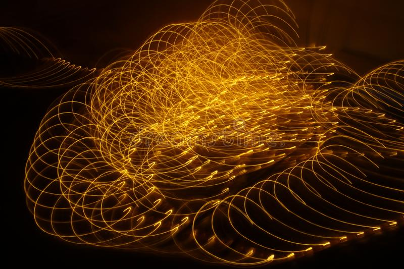 Abstract slow shutter lights closeup stock photography