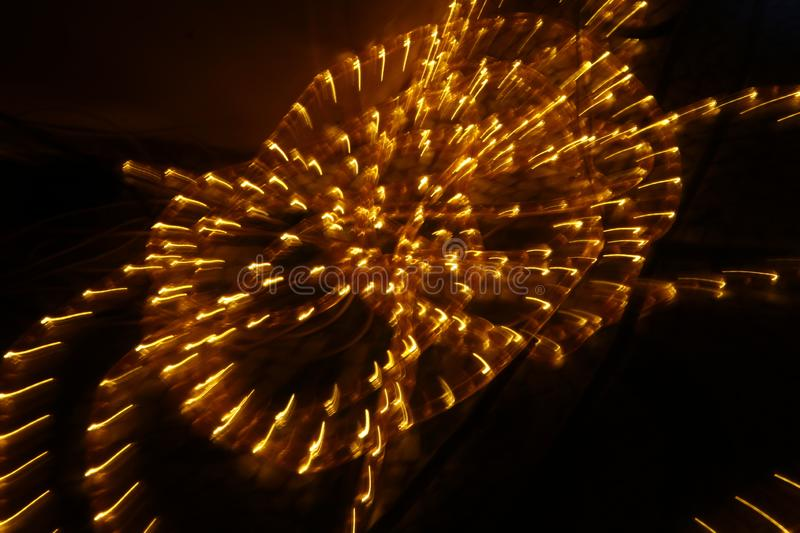 Abstract slow shutter lights closeup royalty free stock image
