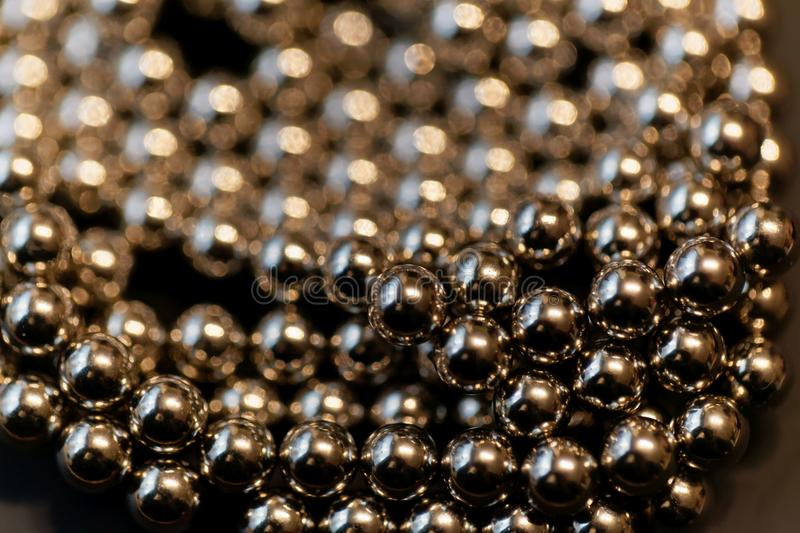 Abstract with small steel balls. As texture or background stock photography