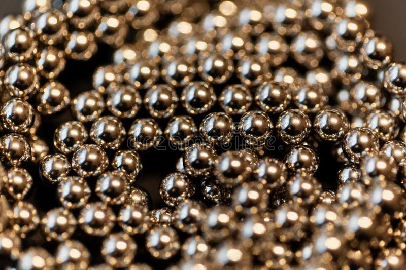 Abstract with small steel balls. As texture or background stock images