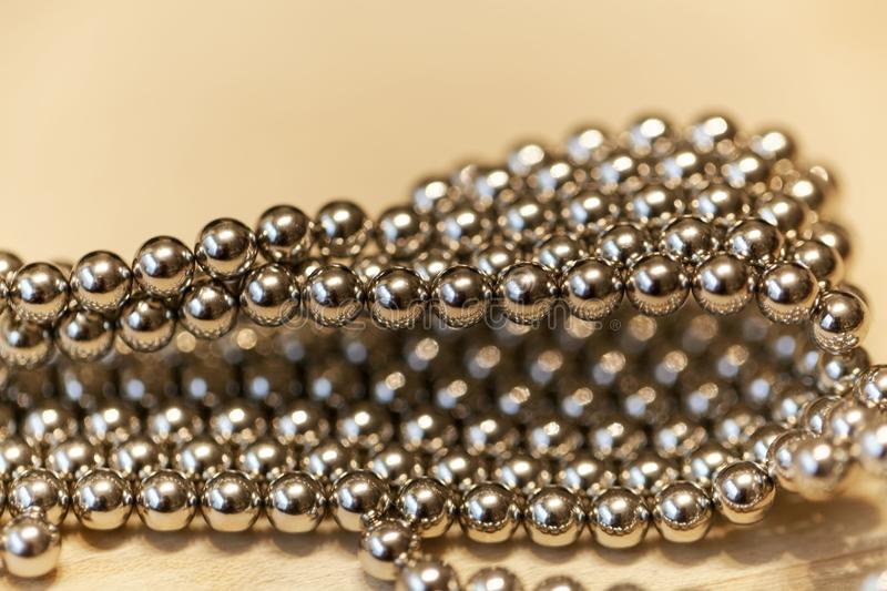 Abstract with small steel balls. As texture or background royalty free stock photography
