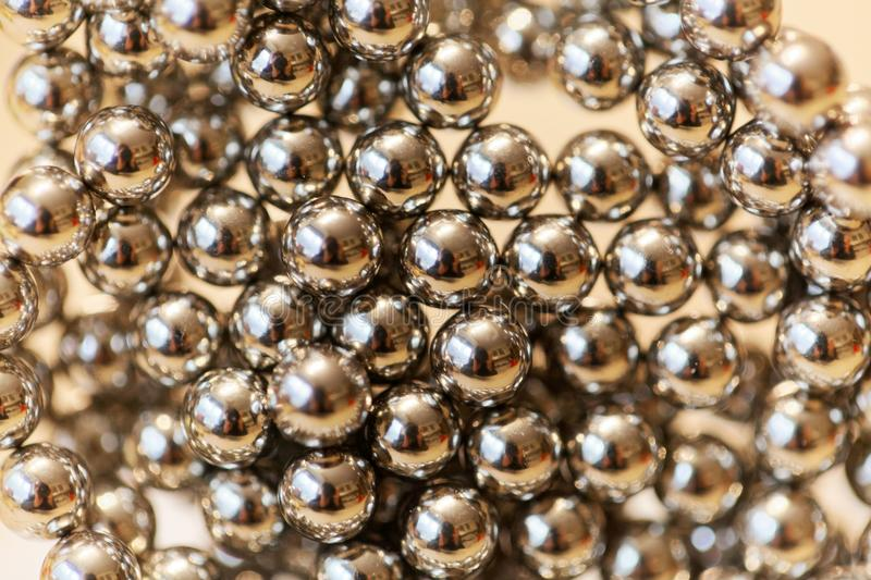 Abstract with small steel balls. As texture or background royalty free stock image