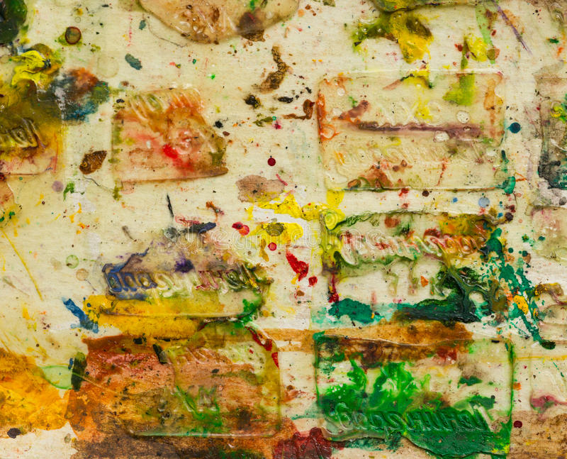 Abstract smeared in paint royalty free stock photography