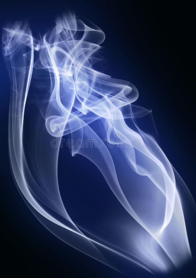 Abstract smoke. Isolated on the black stock photography
