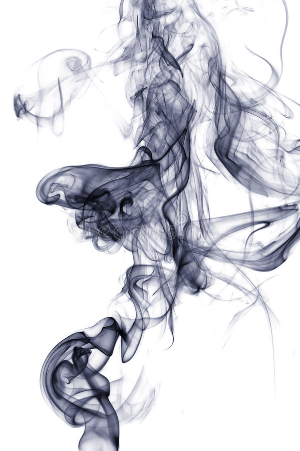 Abstract smoke. Colorful abstract smoke on white background royalty free stock photos