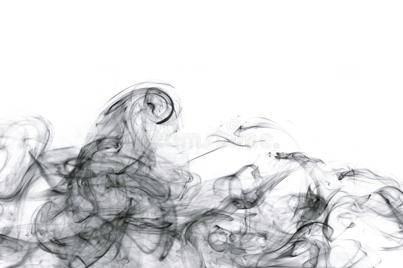 Abstract smoke. On white backgrounds stock photos