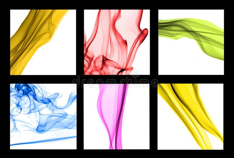 Abstract smoke. Trails on white background royalty free stock photography