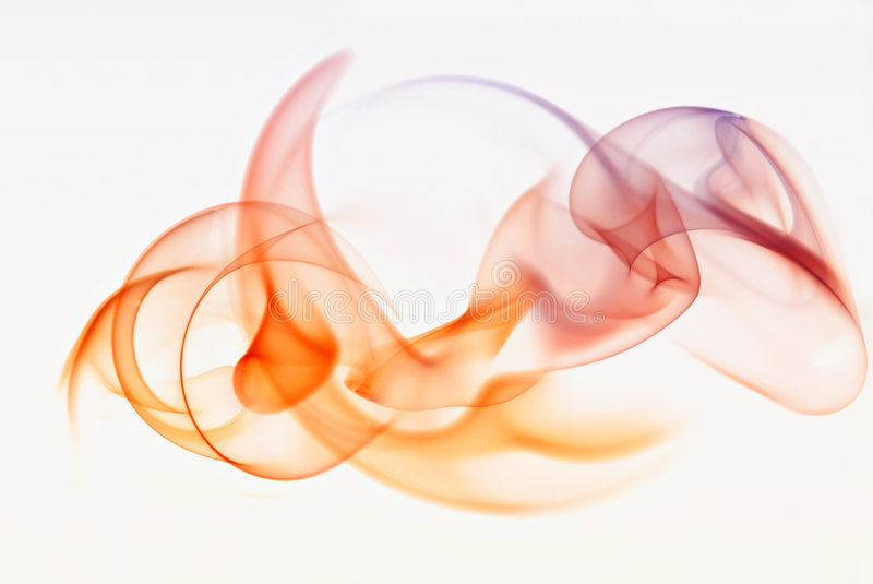 ABSTRACT SMOKE. On white background royalty free stock image