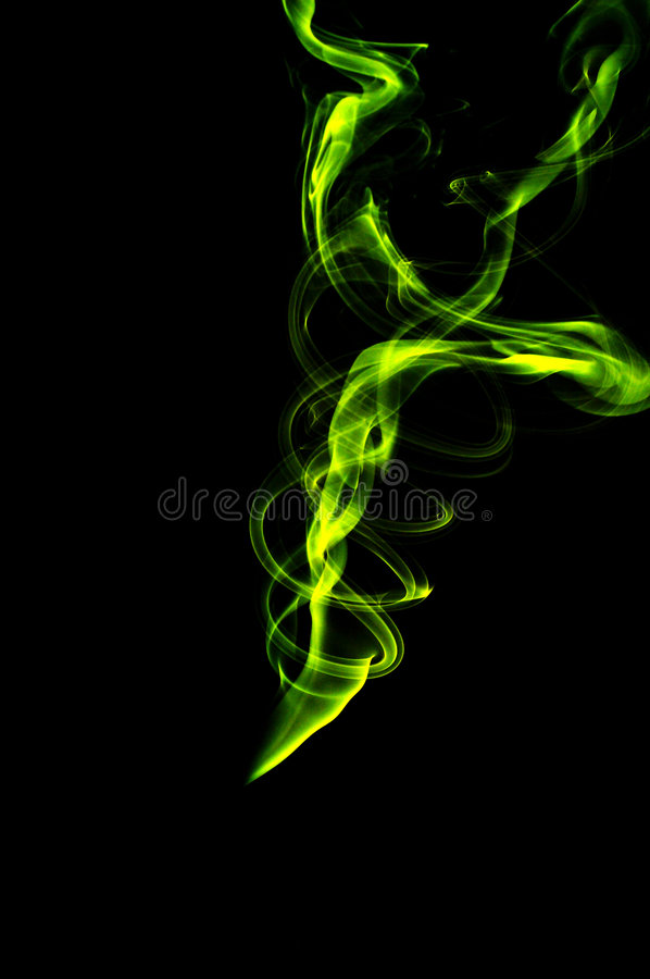Abstract smoke. Yellow stock images