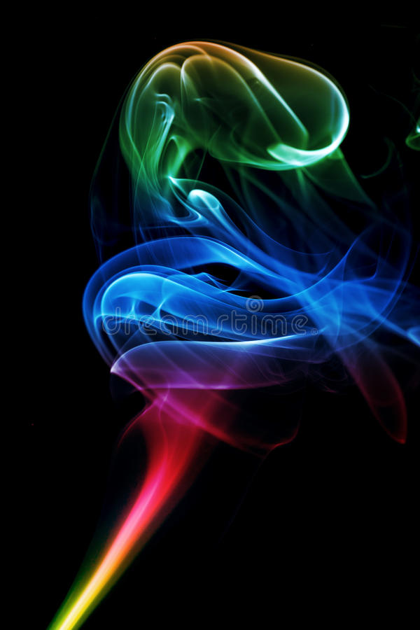 Abstract smoke art. Shoot of the Abstract smoke art stock photography