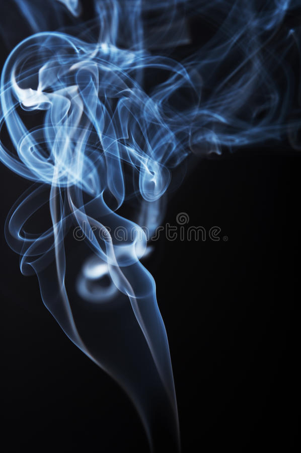 Abstract smoke. On black background royalty free stock photo