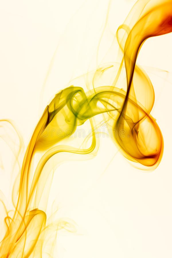 Abstract Smoke. Abstract colored wave smoke on white background stock photography