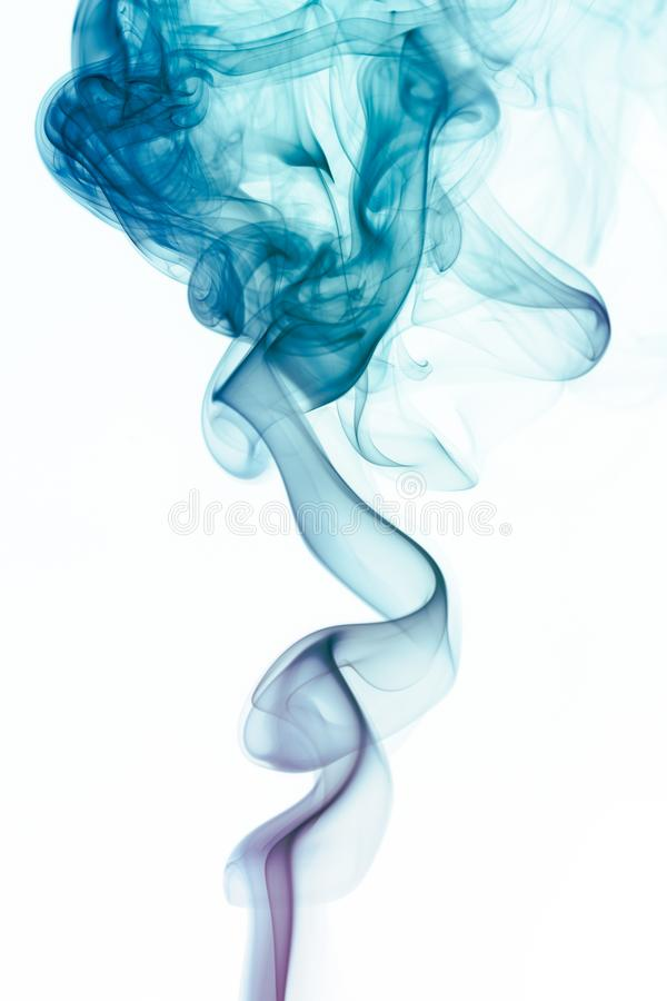 Abstract Smoke. Abstract colored wave smoke on white background stock photos