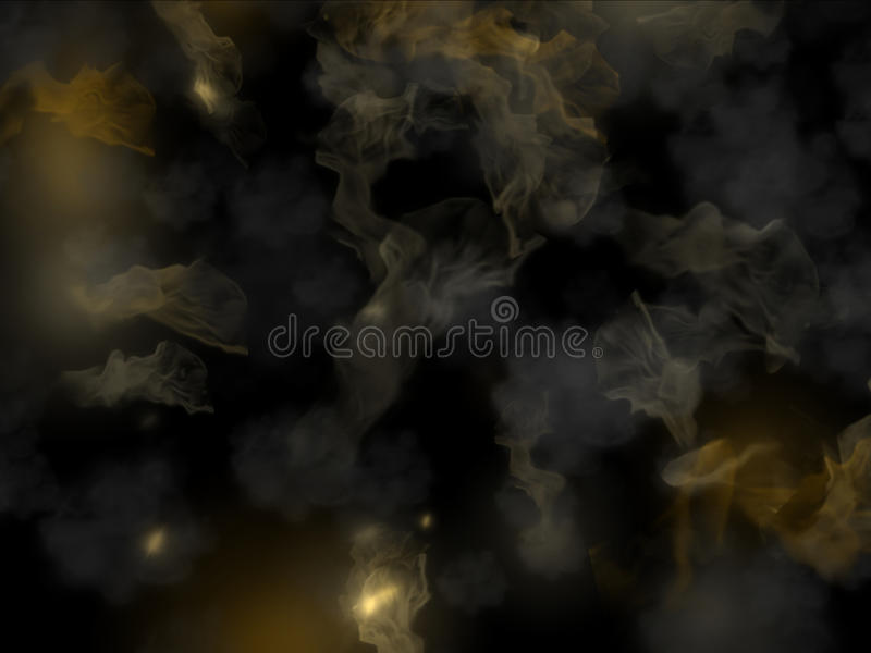 Abstract smoke after explosion royalty free illustration