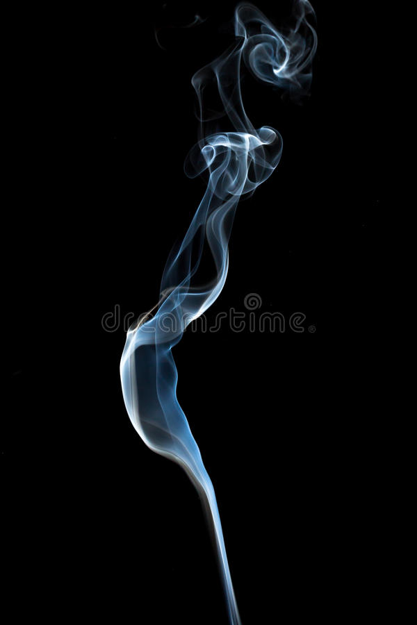 Abstract smoke. Isolated on dark background stock photos