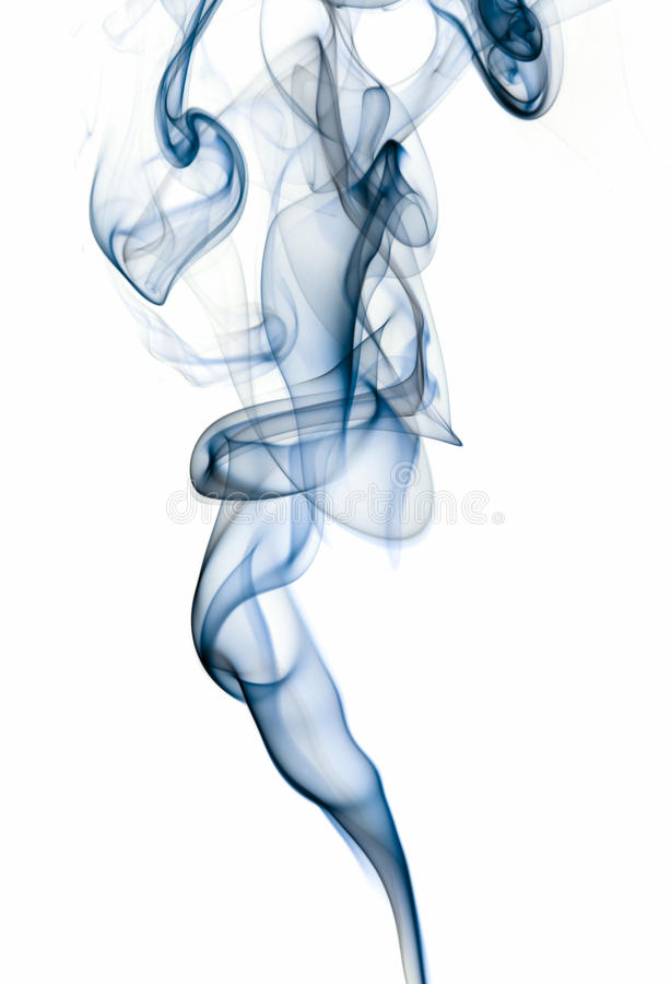 Abstract smoke isolated on white background royalty free stock images