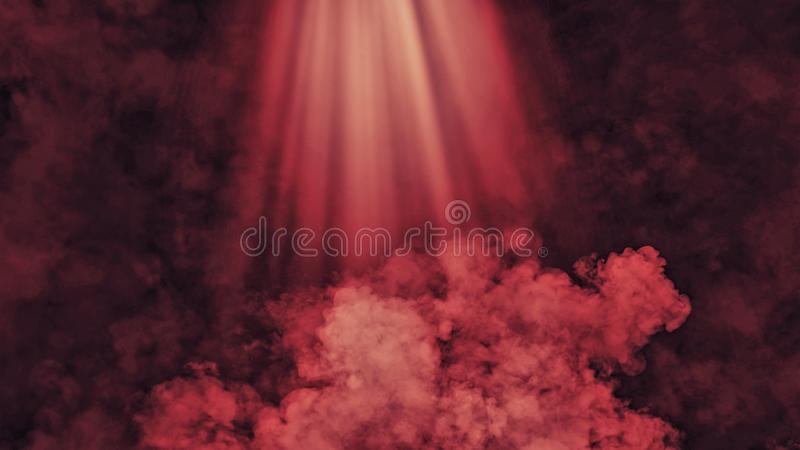 Abstract smoke with light effect. Lighting spotlighting texture overlays. Abstract red smoke with light effect. Lighting spotlighting texture overlays background royalty free stock photography