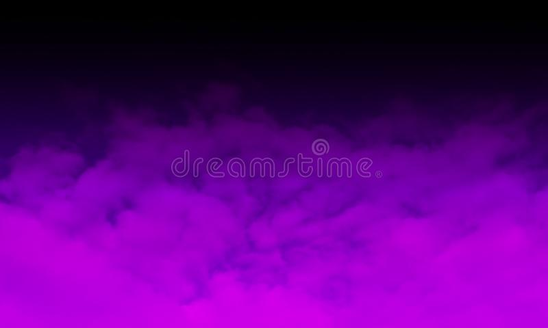 Abstract smoke mist fog on a black background. Texture, isolated. stock illustration