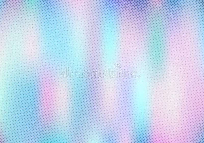 Abstract smoot blurred holographic gradient background with halftone texture effect. Hologram  Luxury trendy tender pearlescent. Vector illustration vector illustration