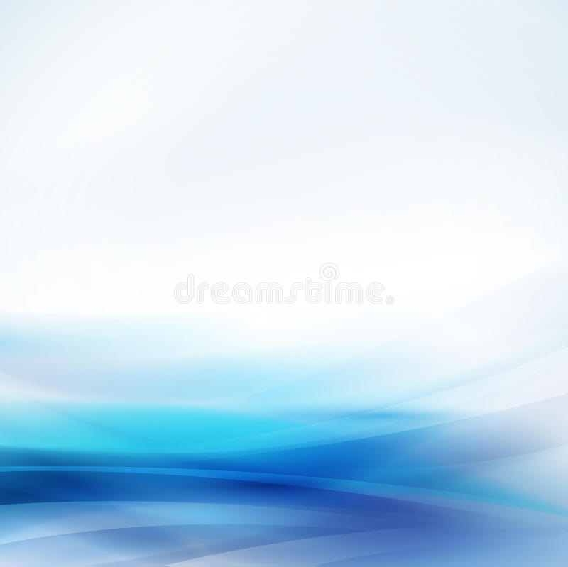 Abstract smooth blue flow background, Vector & illustration. Abstract smooth blue flow background, Vector illustration royalty free illustration