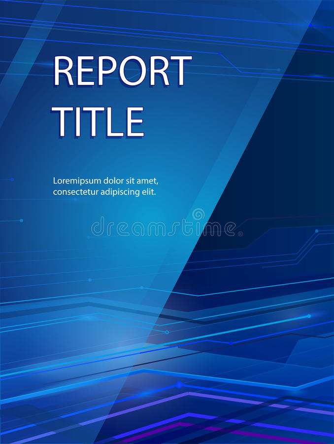 Abstract smooth blue report cover design. Abstract smooth blue report cover template design. Business brochure document layout for company presentations stock illustration