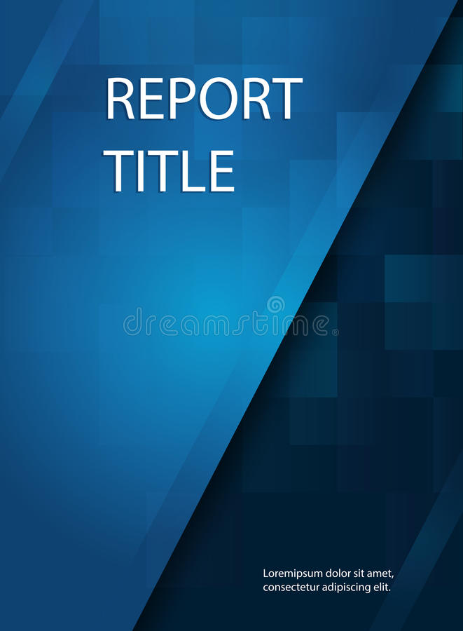 Abstract smooth blue report cover template design. Business brochure document layout for company presentations royalty free illustration