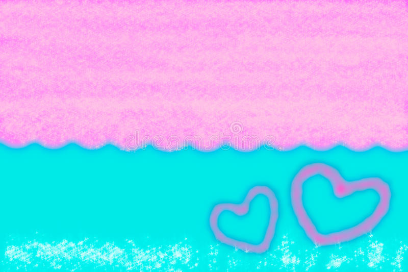 Abstract smooth blur blue and pink background with heart stock photos