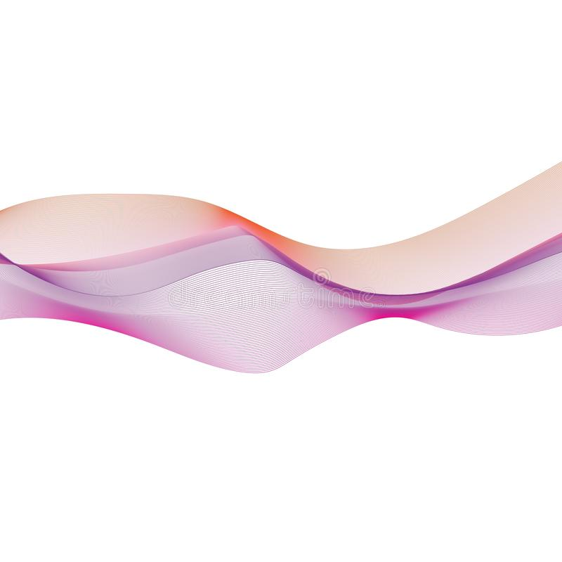 Abstract smooth color wave flow. Abstract smooth color wave vector. Curve flow motion illustration background waves design blue sound technology line digital royalty free illustration