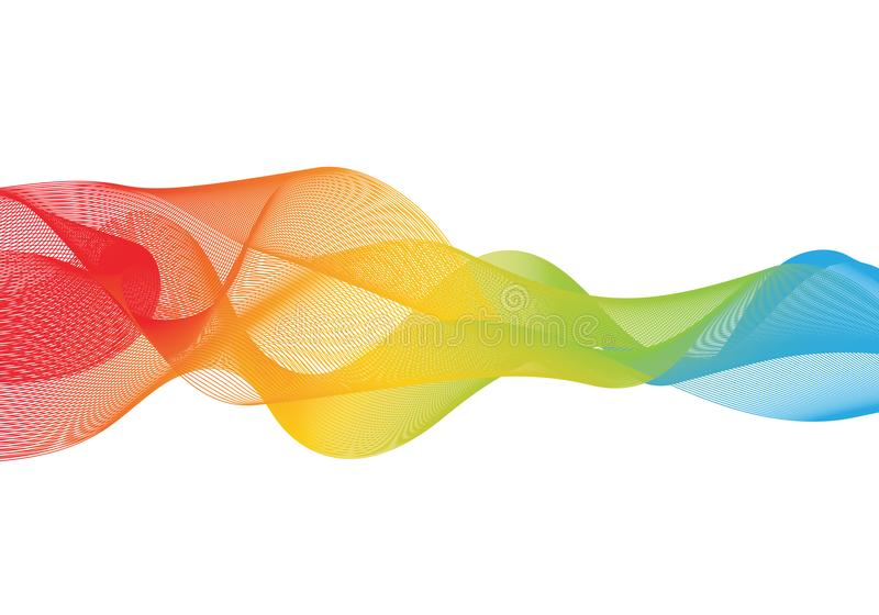 Abstract smooth color wave vector royalty free illustration