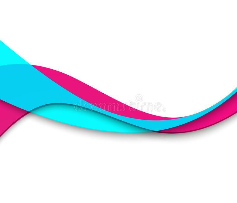 Abstract smooth color wave vector. Curve flow motion illustration. stock illustration