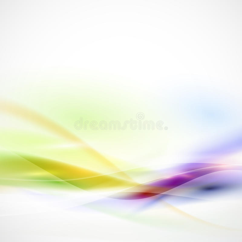 Abstract smooth colorful flow on white background, Vector. Illustration stock illustration