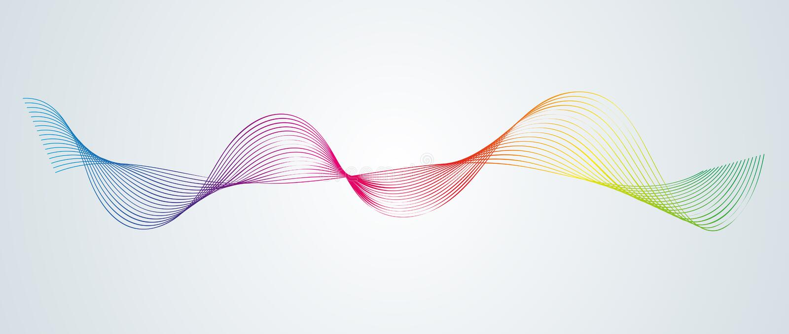 Abstract smooth curved lines Design element Technological background with a line in the form of a wave Stylization of a digital eq. Abstract smooth curved lines stock illustration