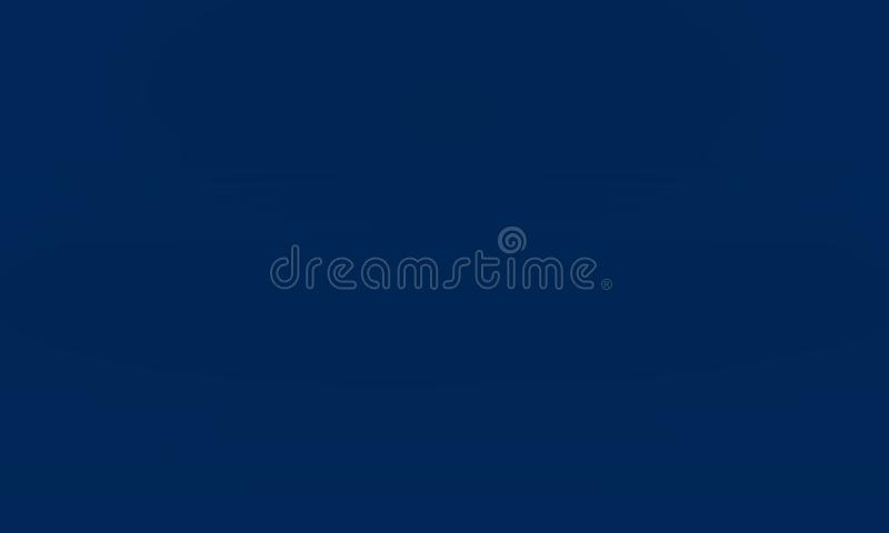 Abstract Smooth Dark blue with Black vignette Studio well use as background,business report,digital,website template royalty free illustration