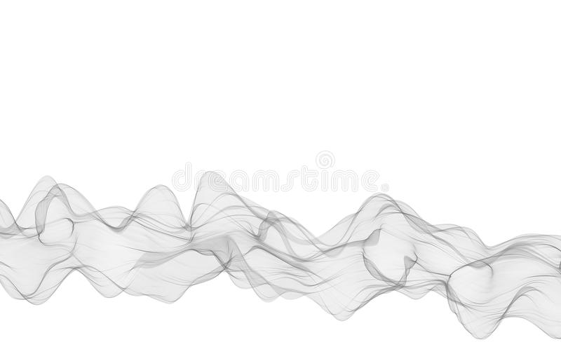 Abstract smooth gray wave. Curve flow grey motion illustration. Gray smoke. Business wave background. Technology wave. Abstract smooth gray wave . Curve flow vector illustration