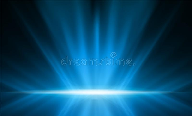 Abstract smooth light blue perspective background. Vector illustration. royalty free illustration