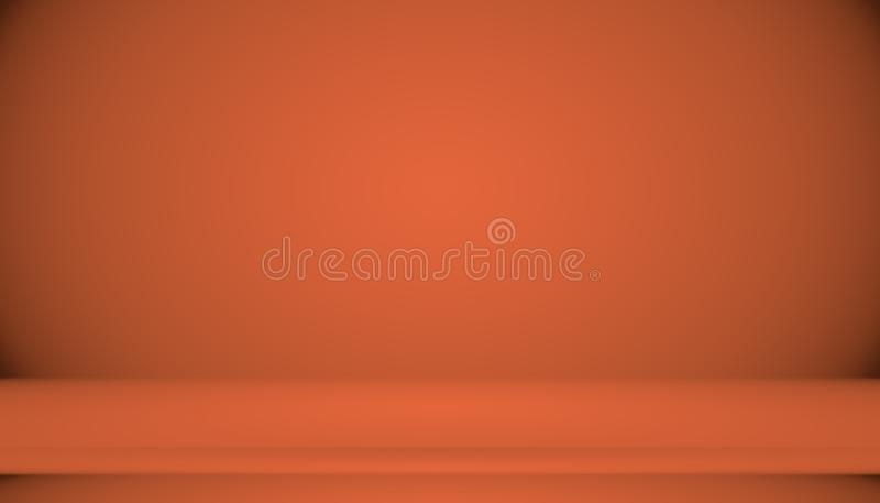 Abstract Smooth Orange background layout design,studio,room, web template ,Business report with smooth circle gradient. Color stock illustration