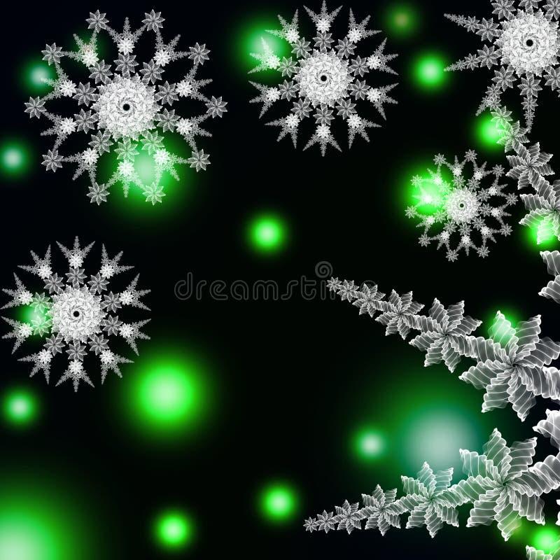 Abstract snowflake stock photos