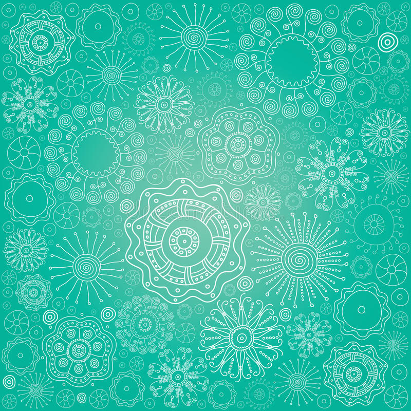 Free Abstract Snowflake Background Royalty Free Stock Photos - 12567558